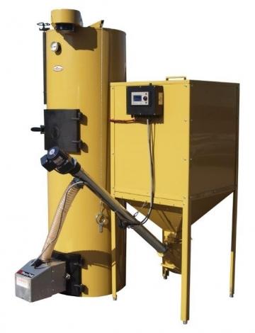Granulių degikliai BurnPell montuojami į UAB Stropuva gaminamus viršutinio degimo katilus