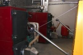 Sumontuoti 2 granulių degikliai X.150 (150 kW) katiluose ANTARA