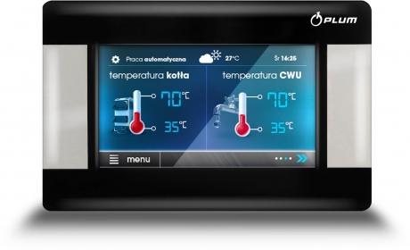 Kambario valdymo pultas su vidaus temperatūros davikliu ecoSTER200 TOUCH