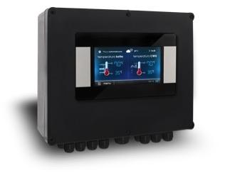 Valdymo pultas su LCD ekranu ecoMAX TOUCH